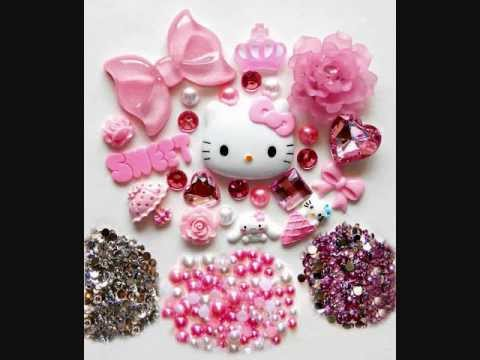DIY Hello Kitty Bling Bling Cell Phone Case Deco Kits