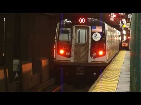 FASTRACK IND 6th Ave Line: R160B Siemens Q Train at West 4th St (Late Nights)