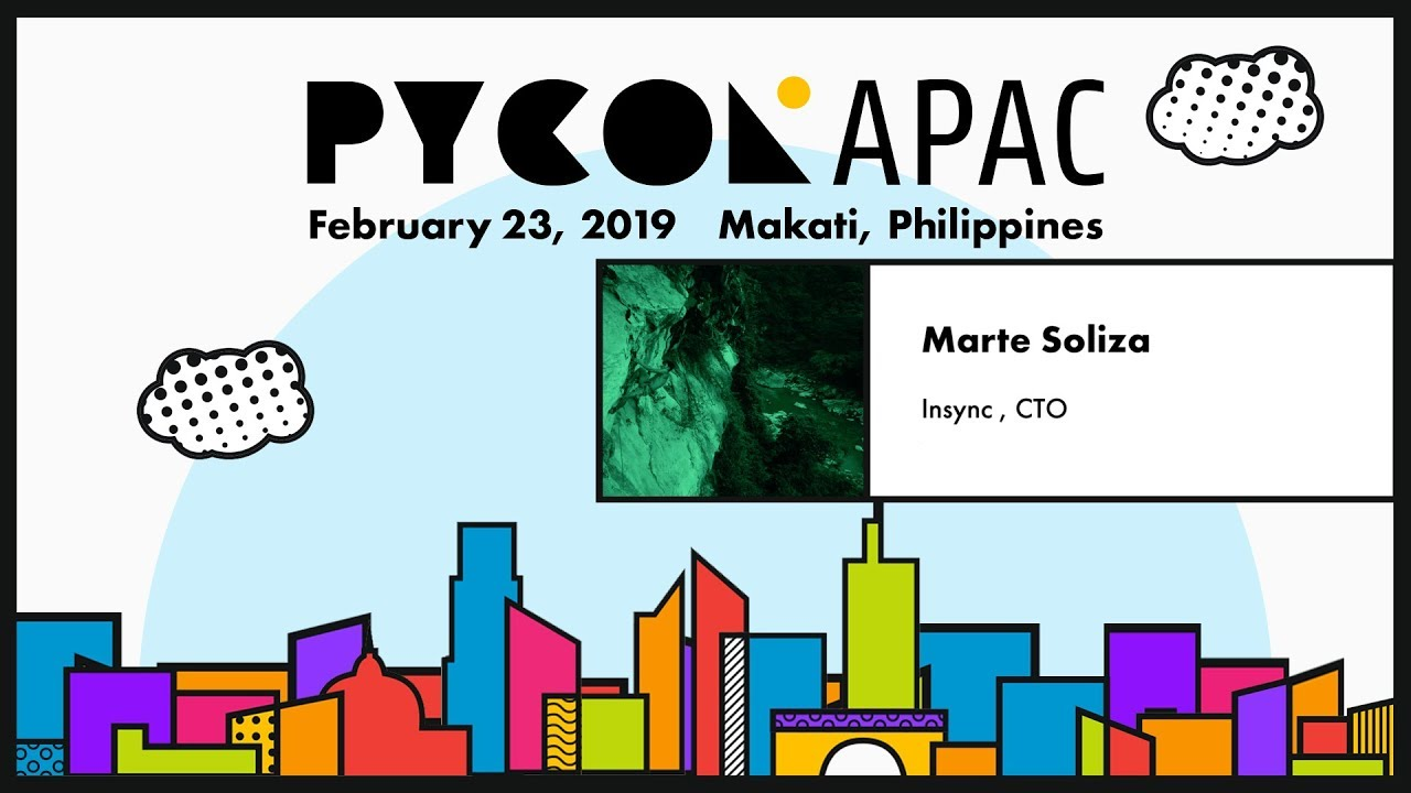 Image from PyCon APAC 2019 - Marte Soliza - Using Asyncio in Python 3
