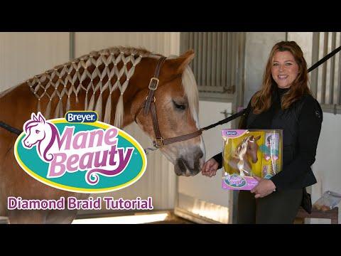 How to Diamond Braid a Horse's Mane   Breyer Mane Beauty Tutorial