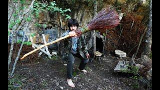 Haciendo una escoba de brezo | Noche en el refugio