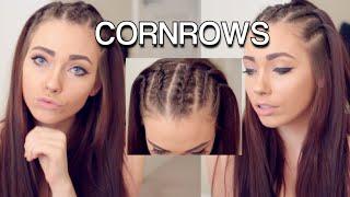 vuclip Corn Rows Hair Tutorial ft. Shybexa Hair Extensions