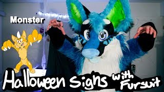 Halloween Signs with fursuit  *Sign Language*
