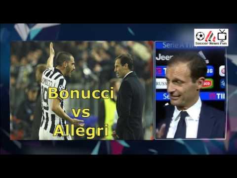 Juventus, Allegri vs Bonucci, insulti durante la partita!