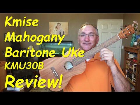 Baritone Ukulele Review - Kmise mahogany baritone ukulele (KMU30B)