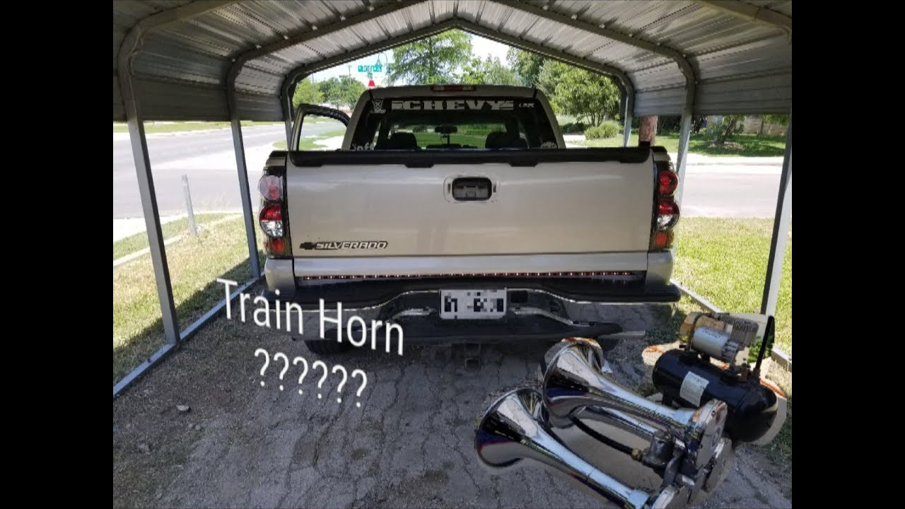 train horn install on the silverado