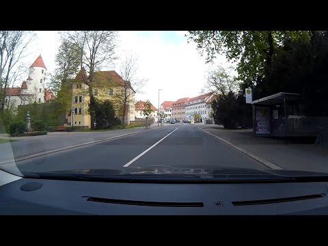 Durch Freiberg mit dem Auto