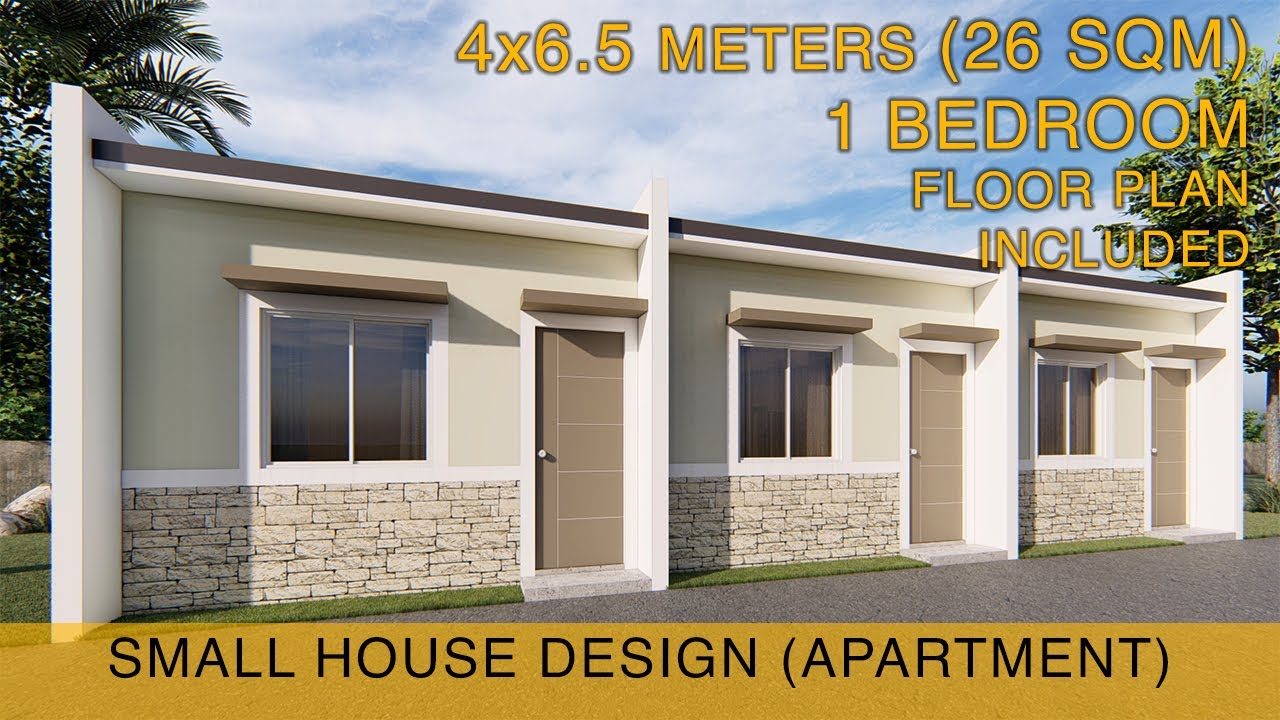 Small House Design Idea Apartment 4x6 5 Meters 26sqm With One Bedroom Youtube