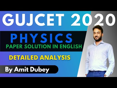 GUJCET 2020 Paper Solution in English | Physics Detailed Solution | by Amit Dubey