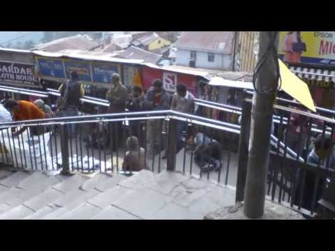 Going down the stairs from Mall Road to the Bazaar in Shimla India