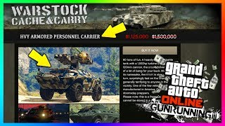 GTA ONLINE GUNRUNNING DLC ARMORED PERSONNEL CARRIER APC TANK NEW DETAILS, FEATURES & MORE! (GTA 5)