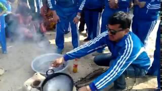 Cooking at Musahar Settlement