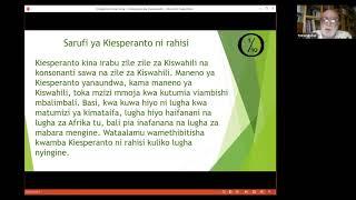 Kurso de Esperanto per la svahila de prof. Nino Vessella (parto 1/6)
