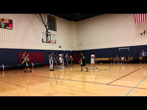 Karthik 7th grade basket ball game at Maus Middle school