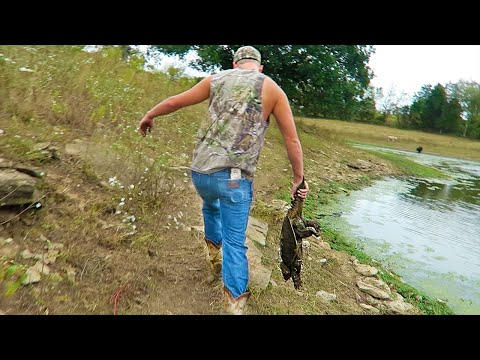 CATCHING GIANT SNAPPING TURTLES!