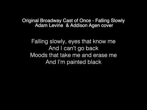 Adam Levine & Addison Agen - Falling Slowly Lyrics ( The Voice 2017 )