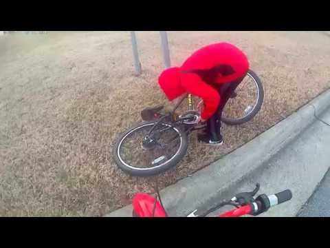 Friends bike chain breaks|Dirt-bike riding