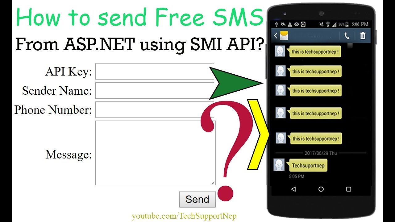 How to Send Free SMS From ASP NET using SMS API? [With Source Code]