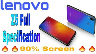 Lenovo Z5 Launched || Full Specification and Features || All About The Phone