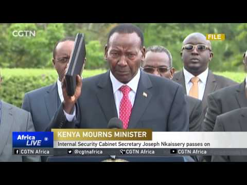 Internal Security Cabinet Secretary Joseph Nkaissery passes on