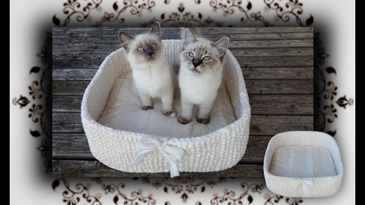 DIY 😻 Reise Kissen Körbchen Für Katzen & Hunde