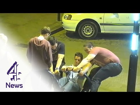 Boston boys fix broken bike rack on night out  | Channel 4 News