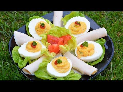 Kazinska jaja - punjena jaja - dekorativno predjelo