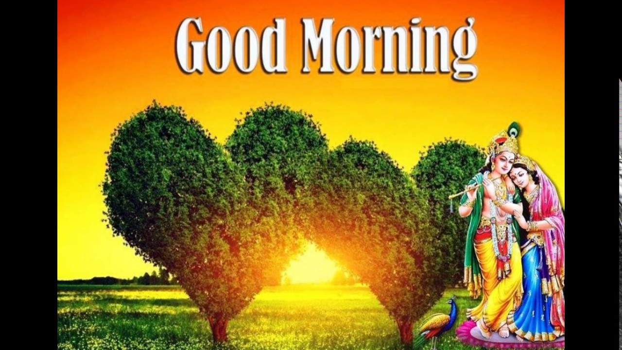 Good morning image with god picture - radha krishna