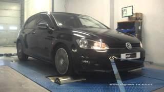 VW Golf 7 1.6 tdi 105cv Reprogrammation Moteur @ 147cv Digiservices Paris 77 Dyno