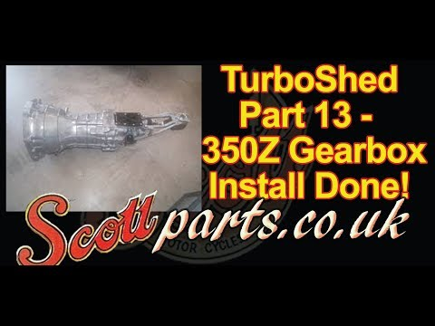 TurboShed Part 13 - 350Z 6sp manual gearbox installed and finished!  CD009 Z33 1UZ Manual