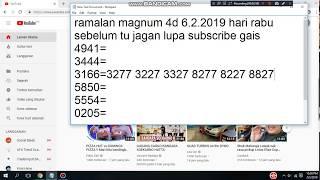 ดาวน์โหลดเพลง Ramalan Magnum 4d Hari Ahad 19/08/2018