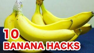 バナナのライフハック10選/10banana hacks&tricks/保存方法から剥き方や切り方まで色々あるよ thumbnail