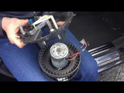 Ремонт вентилятора печки MB W220