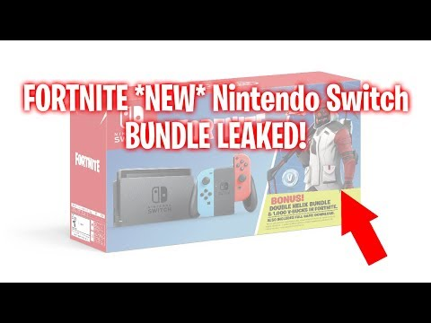 FORTNITE *NEW* NINTENDO SWITCH FORTNITE BUNDLE! SKIN AND V-BUCKS!