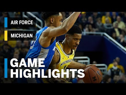 Highlights: Air Force at Michigan | Big Ten Basketball