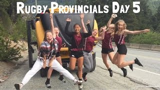 RUGBY PROVINCIALS DAY 5, BUS BROKE DOWN   Maxine O'Leary