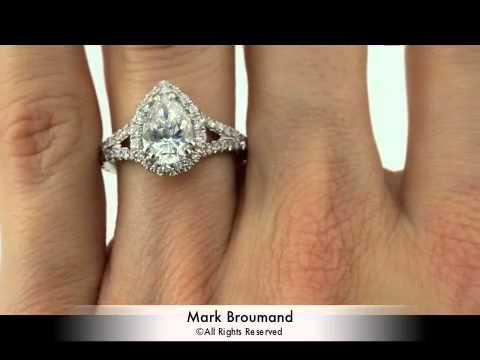 257ct Pear Shaped Diamond Engagement Anniversary Ring
