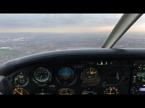 Flight Vlog | Manchester VFR Zone Transit With Radio Trouble | ATC Audio