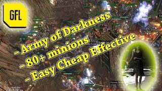 Path Exile Witch Summoner Build Army Darkness Minions