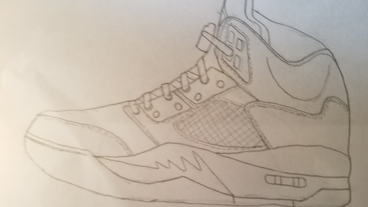 on sale a3096 6f116 How To Draw The Jordan 5 Hyperlapse