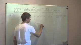 Matematik A - Eksamensopgaver - Vinter 2009 delopgave 1