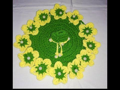 Beautiful flower dress for 2-3 number Laddu gopal Ji