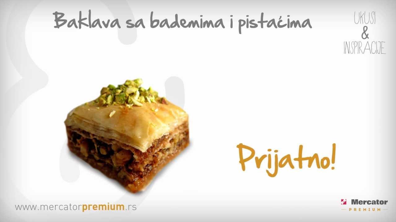 Baklava sa bademima i pistaćima - Recept - YouTube