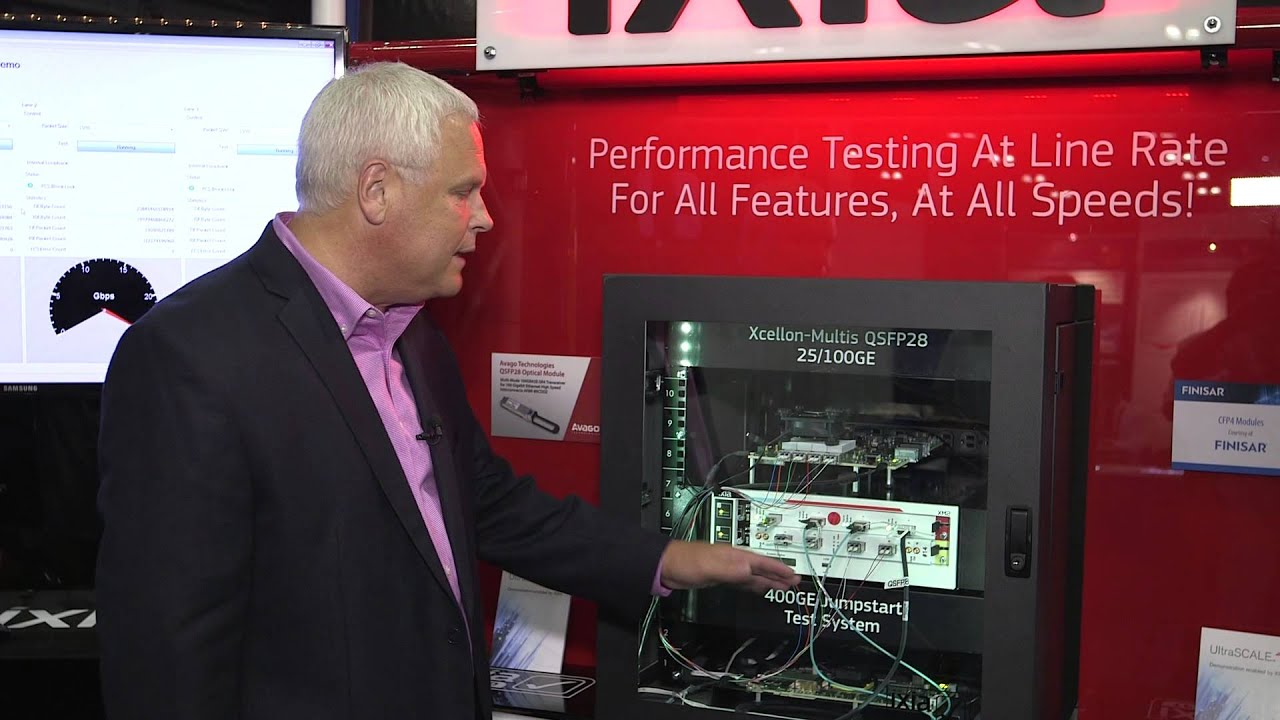 Ixia 400GE and 25GE test solutions featuring Xilinx UltraScale FPGAs at OFC  2015