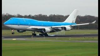 KLM 747 PH-BFR Final landing at Twente Airport! (Biggest airplane ever to land at Twente airport)