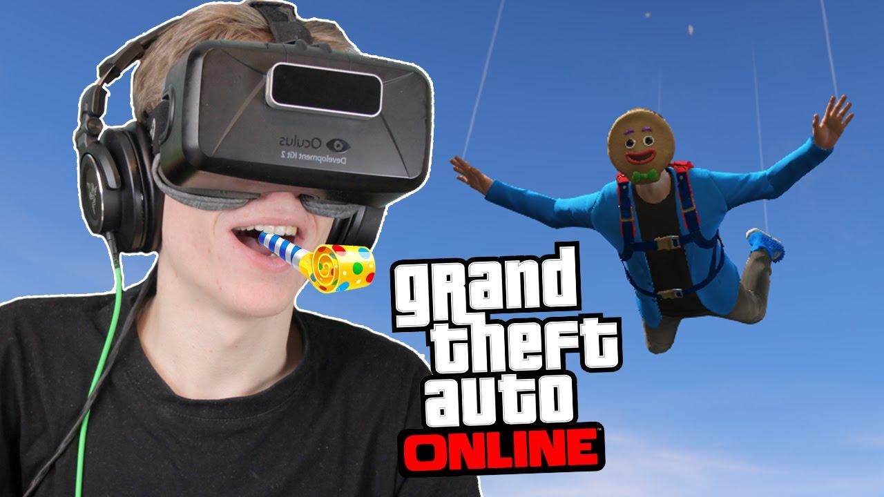 SKYDIVING & FIVE STAR POLICE! | GTA 5: Online (Oculus Rift DK2)