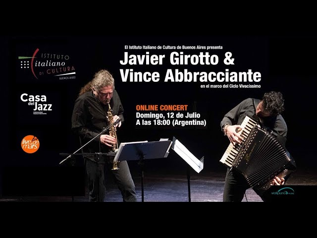 Javier Girotto & Vince Abbracciante - Casa del Jazz - IIC de Buenos Aires - LiveOnMârs Tv