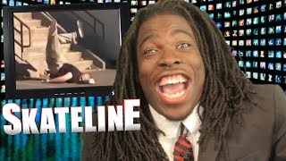 SKATELINE - Jamie Foy Slam, Chris Joslin Part, Jeff Dechesare Inward Heel, Andy Roy