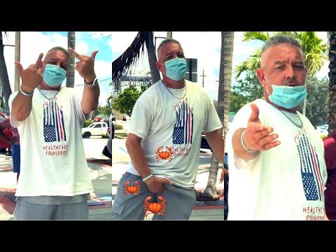 Angry Man With Bun Triggered Over My Cameras!! First Amendment Audit FAIL! Lake Worth, Fl DMV