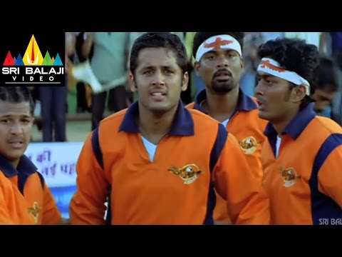 Sye Movie Rugby Match 1st Half | Nithin, Genelia, Pradeep Rawat | Sri Balaji Video